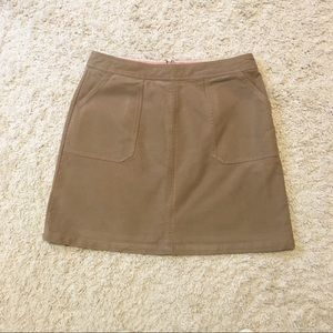 Boden Chino Khaki A-Line Skirt Sz 12